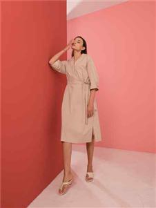 阿萊貝琳2020收腰連衣裙