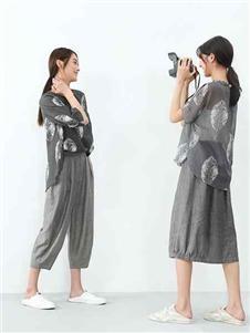 堓上夏季新款灰色套装