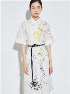 麦檬女装麦檬白色连衣裙