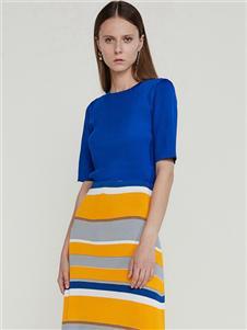 欧时力女装欧时力2020新款条纹半裙