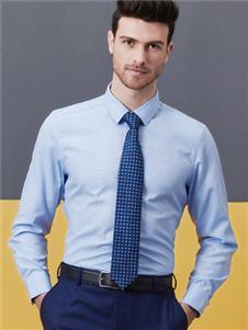希努尔男装希努尔2020新款蓝色领带