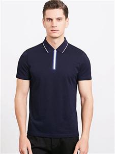 沙驰国际男装沙驰国际男装蓝色polo衫