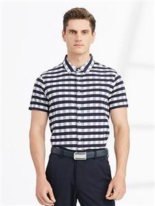 沙驰国际男装沙驰国际男装格子polo衫