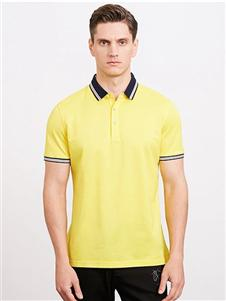 沙驰国际男装沙驰国际男装黄色polo衫