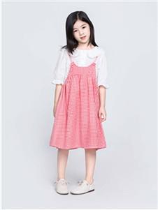 海贝童装童装海贝2020新款格子裙