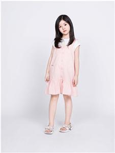 海贝童装童装海贝2020新款粉色连衣裙
