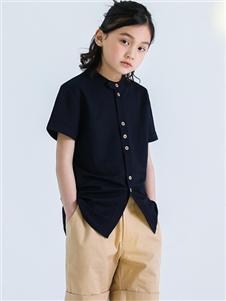 玛米玛卡童装玛米玛卡时尚黑色衬衫