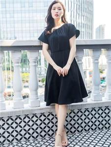 臣枫夏新款小黑裙