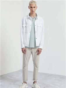 EHE男裝2020新款白色外套