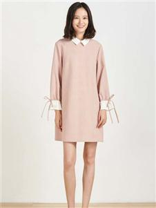 布景女装布景2020新款娃娃领连衣裙
