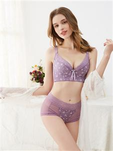 杜妮芬紫色文胸套装