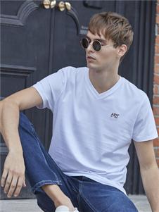 爱迪丹顿新款白色T恤