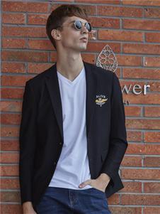 爱迪丹顿时尚黑色西服外套
