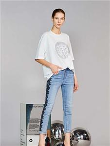 维斯提诺2020新款修身牛仔裤