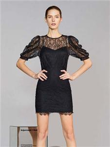 维斯提诺2020新款黑色连衣裙