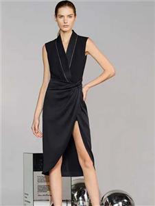维斯提诺2020新款无袖连衣裙