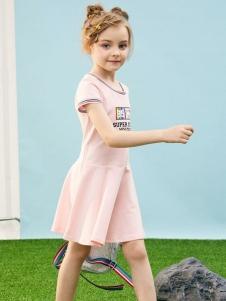 小猪班纳女童粉色裙子
