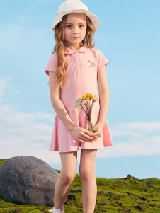 小猪班纳女童夏粉色裙子
