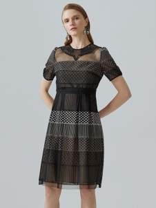 米岫女装米岫短袖连衣裙