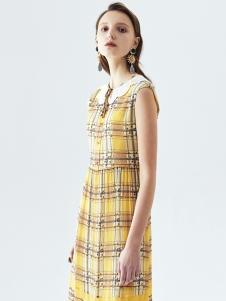 米岫女装米岫格子连衣裙