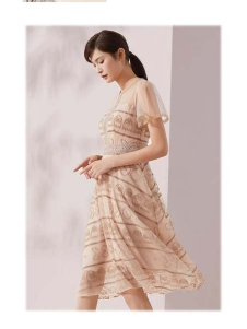 迪图新款纱制连衣裙