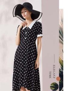 迪图新款娃娃领连衣裙