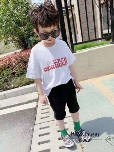 小嗨皮男童夏新款T恤