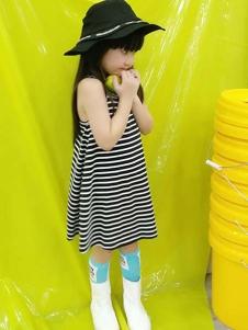 一度童装童装一度童装新款条纹裙