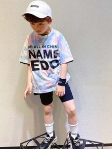 一度童装童装一度童装渐变色T恤