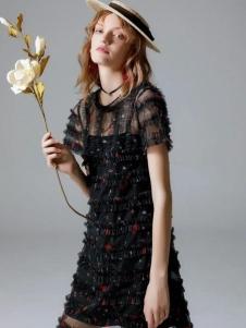 SIEGO西蔻黑色連衣裙
