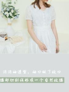 幻彩四季白色连衣裙