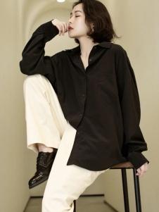 刘刘墨女装LIULIU MO刘刘墨黑色衬衫