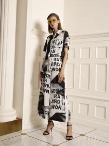 例格夏款印花裙