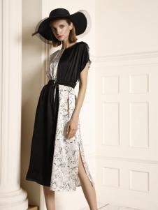 例格时尚拼接连衣裙