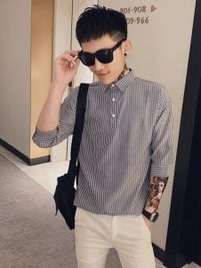 乔治邦尼时尚条纹衬衫