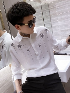喬治邦尼白色襯衫