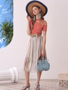 百图betu条纹半裙
