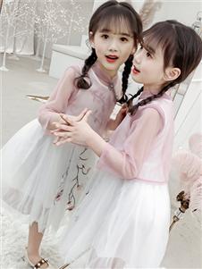 杰米熊女童可爱连衣裙