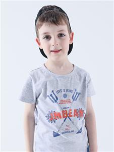 杰米熊男童灰色T恤