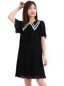 歌莉娅女装歌莉娅夏季纯色连衣裙