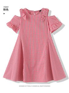 今童王女童格子裙