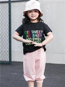 不可比喻童装BCOBI不可比喻黑色T恤