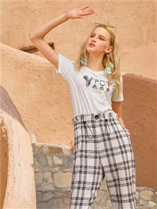 十八淑女坊女装十八淑女坊2020夏季新款花苞裤