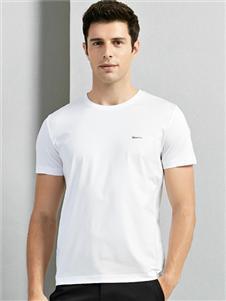 金狐狸男装白色T恤