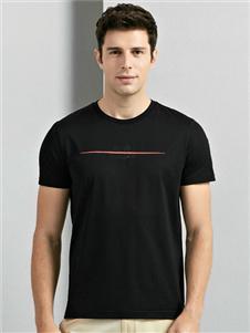 金狐狸男装黑色T恤