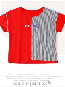 1001夜童装1001夜红色T恤