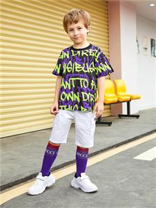 杰米熊童装杰米熊男童时尚印花T恤