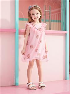 杰米熊女童甜美连衣裙
