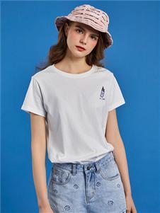 大嘴猴纯色短袖T恤