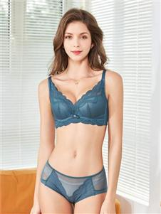 娅茜2020新款蓝色内衣